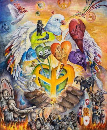 Vincitori Del Primo Premio Del Concorso Un Poster Per La Pace
