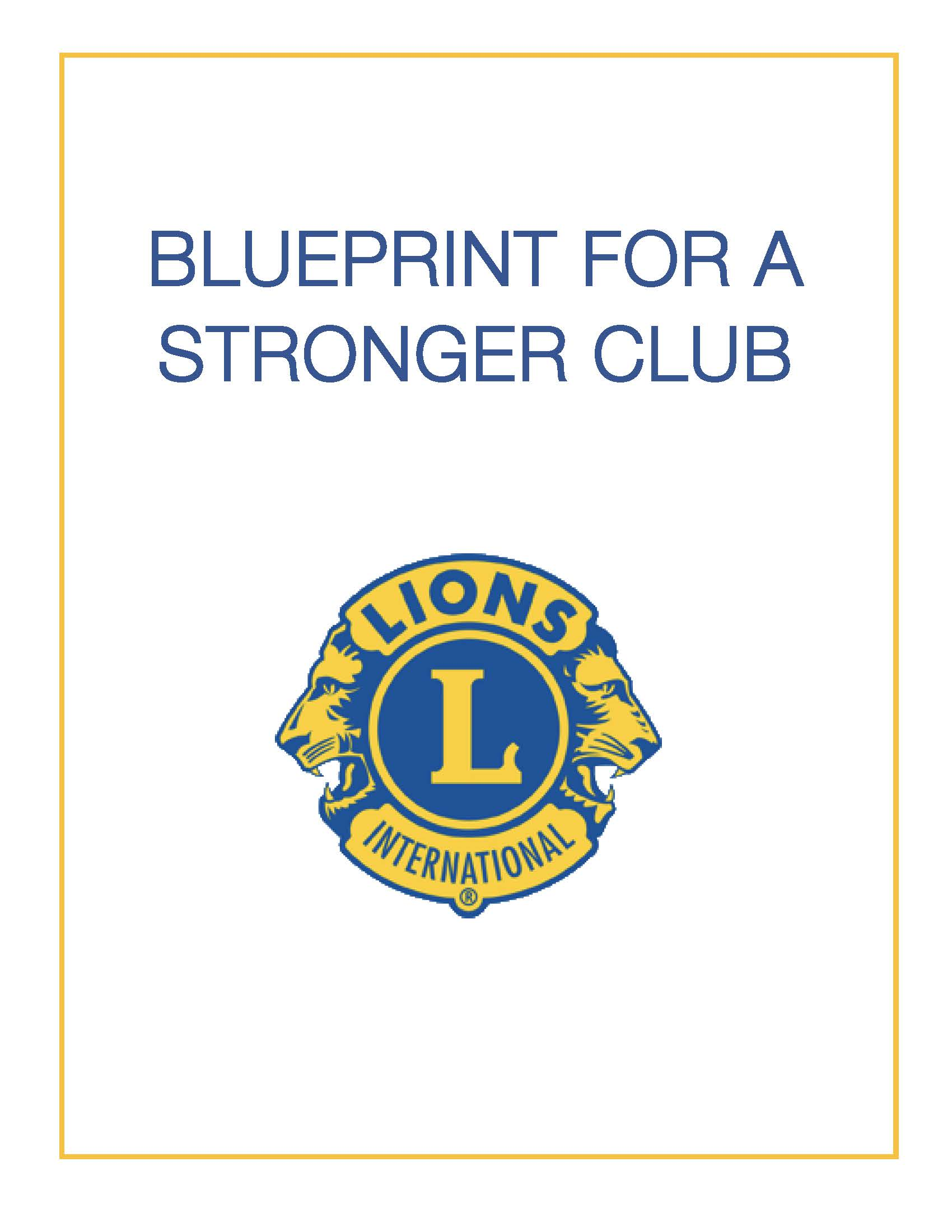 Link to Blueprint for a Stronger Club