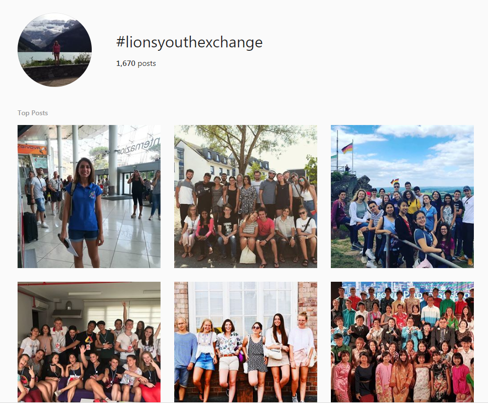 image of Instagram hashtag results